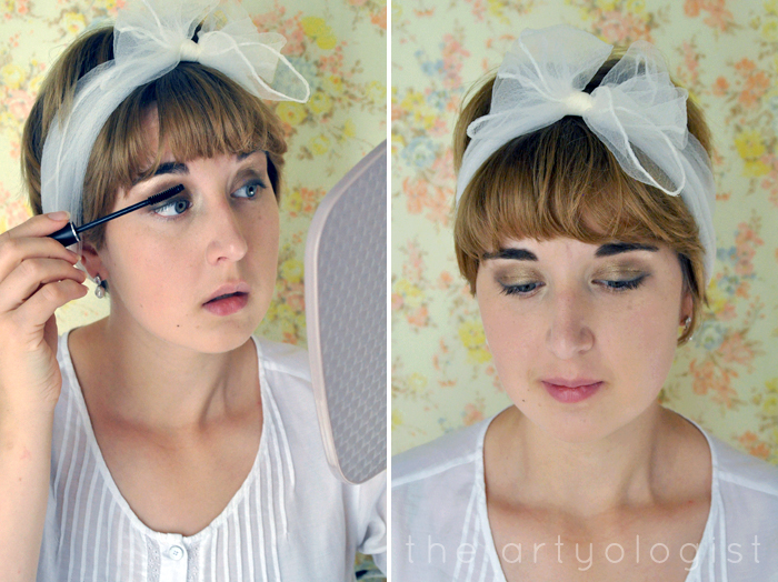 mascara and the finished look, How to Create a Modern 1920's Makeup Look, the artyologist