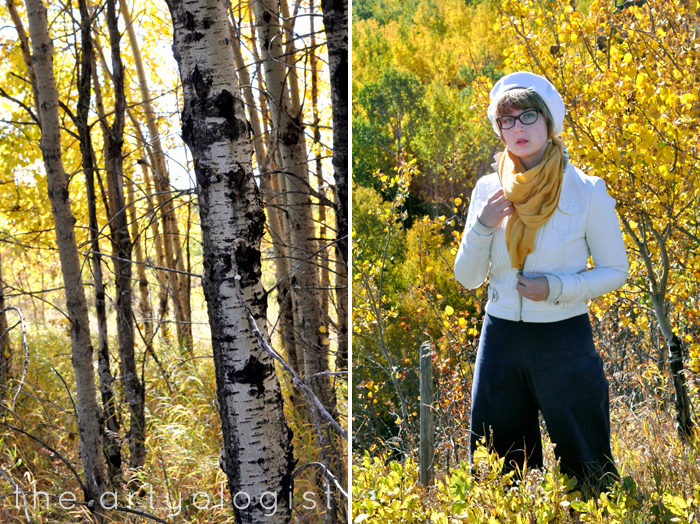 How to Colour Match Your Surroundings, trees-and-outfit, the artyologist