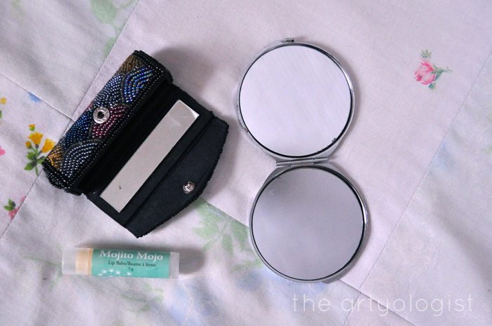 whats in my bag, mirror and lipbalm, the artyologist