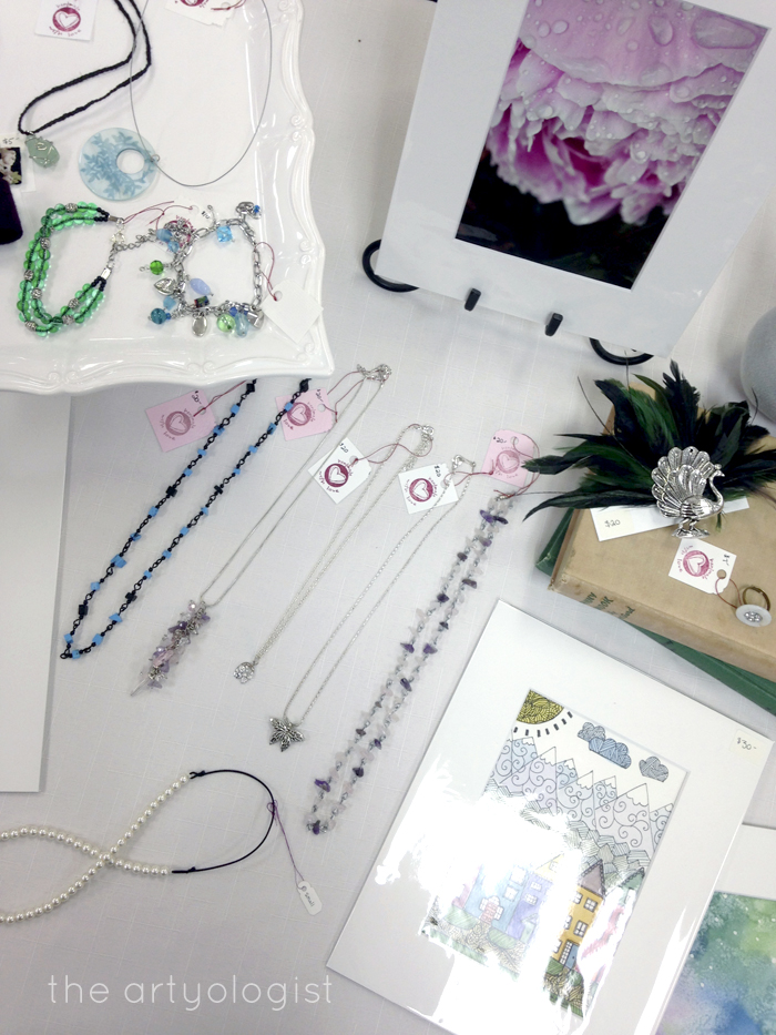 Craft Sale Recap, Table Display, the artyologist