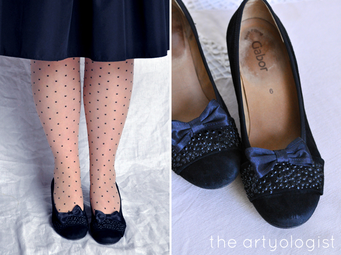 Bringing Back Coupon Busters One Pair of Shoe Clips at a Time, the artyologist, black bows