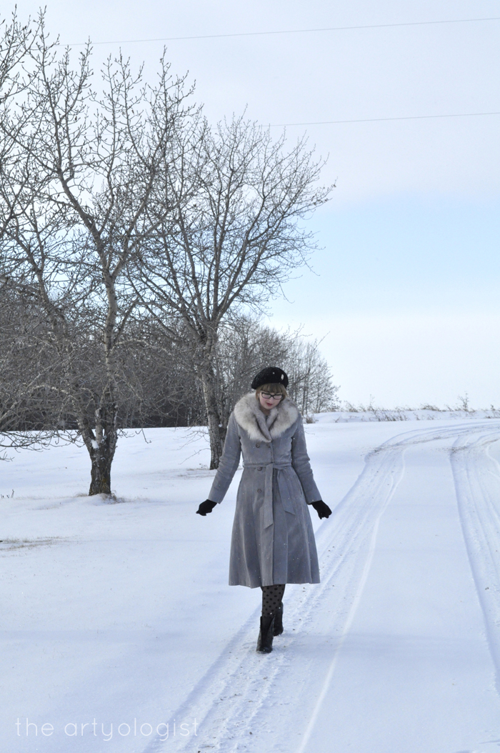White Wonderland, christmas outfit with beetle brooch, the artyologist