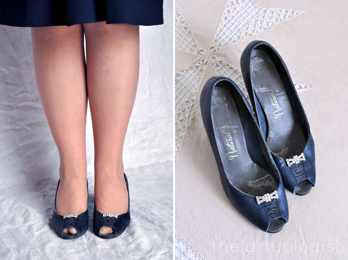Bringing Back Coupon Busters One Pair of Shoe Clips at a Time, navy silver clips, the artyologist
