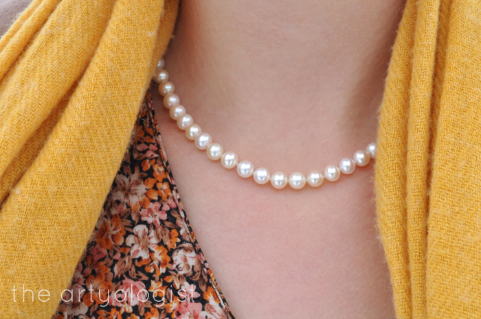 Winter Outerwear: The Bane and Blessing of Our Existence, the artyologist, vintage style pearl necklace
