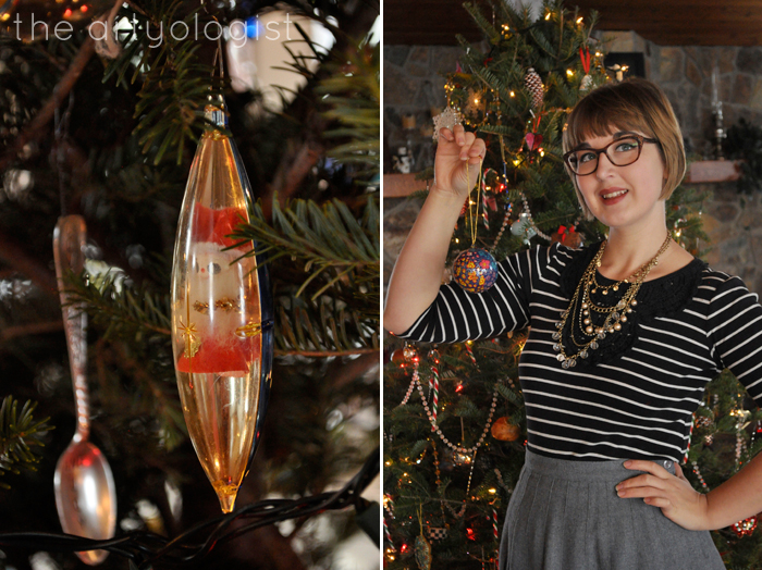 Christmas Day: A Comfy Yet Classy Outfit, the artyologist, ornaments