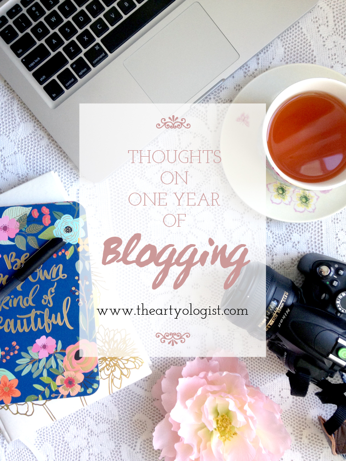 thoughts on one year of blogging, the artyologist