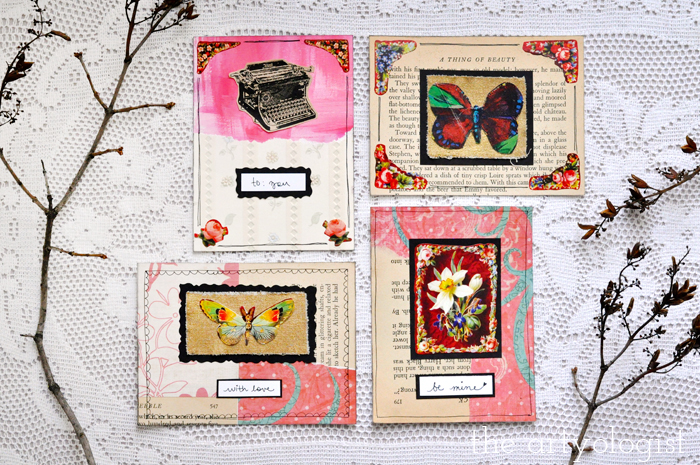 the artyologist, four valentine's postcards