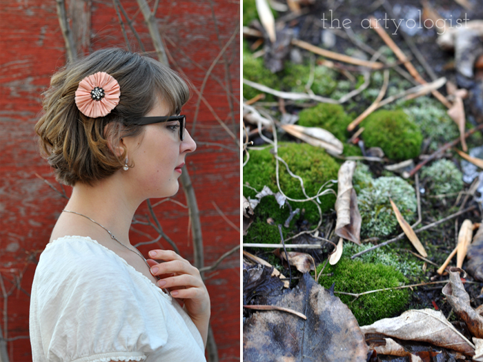 Love is Forever. Winter is Not. The Artyologist, moss and Valentine's outfit