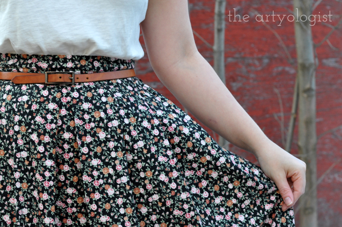 Love is Forever. Winter is Not. The Artyologist, locket and Valentine's Day outfit skirt