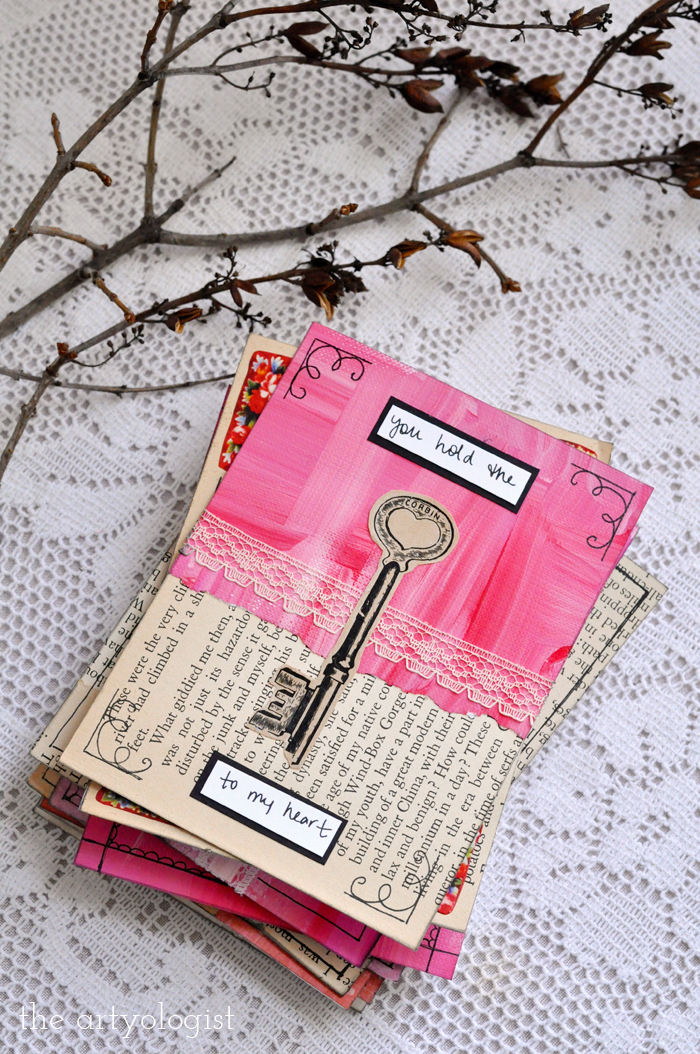the artyologist, stack of valentine's day cards