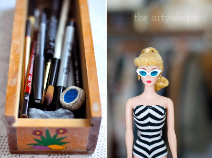 Life Lately: Changing Seasons, the artyologist, barbie-and-pencil-box