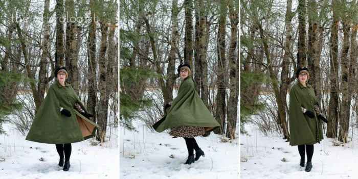 The Green Caped Crusader, Butterick 3642, the artyologist, twirling
