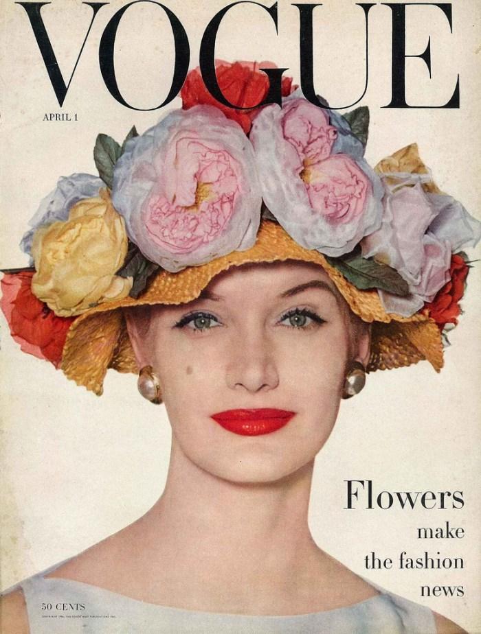 Vogue cover, April 1, 1956