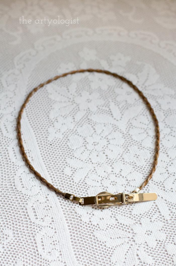 Fashion Revolution Haulternative (aka Thrift Finds) the artyologist, belt