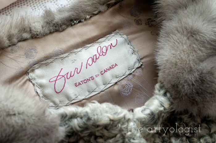 Fashion Revolution Haulternative (aka Thrift Finds) the artyologist, fur-detail