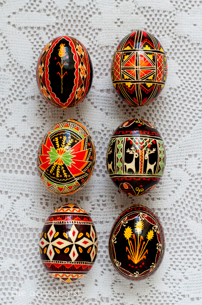 Happy Easter, the artyologist, pysanka grid