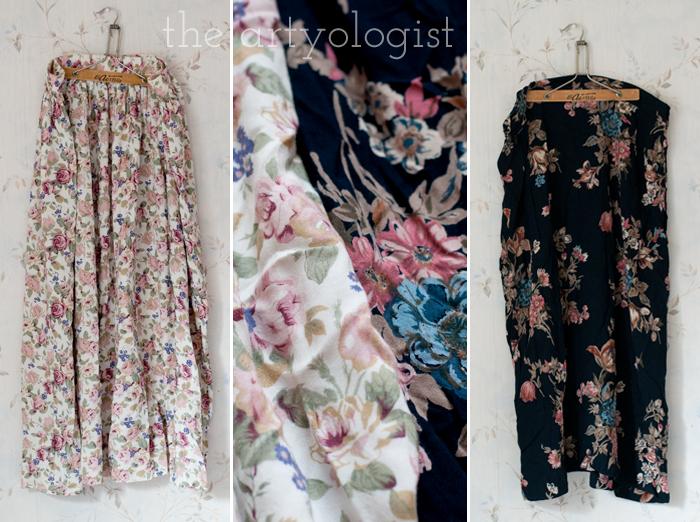 Fashion Revolution Haulternative (aka Thrift Finds) the artyologist, skirts-to-upcycle