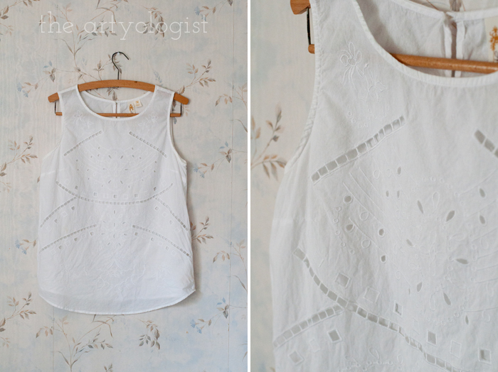 Fashion Revolution Haulternative (aka Thrift Finds) the artyologist, white top