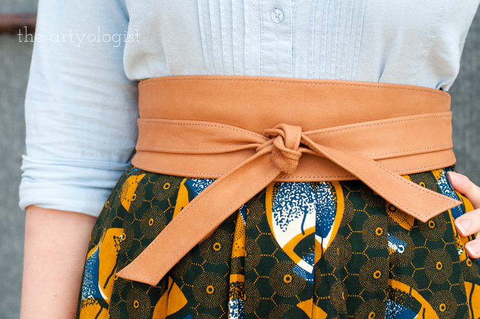How to Start Dressing Ethically, the artyologist, belt detail