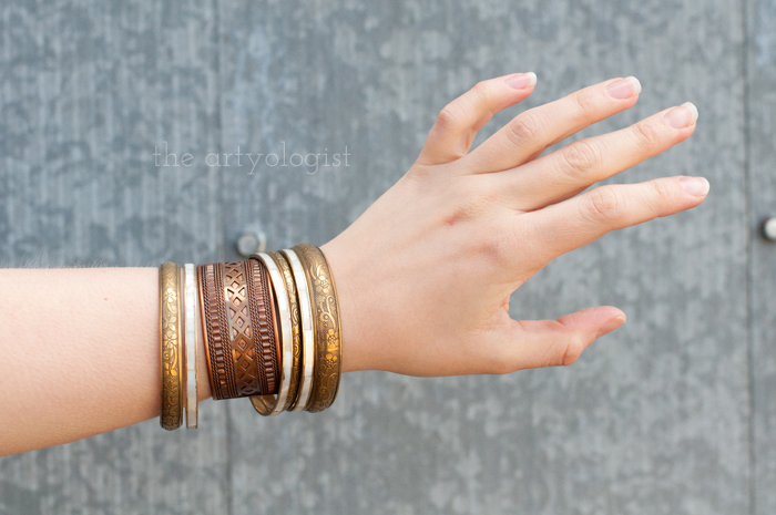 How to Start Dressing Ethically, the artyologist, bracelets