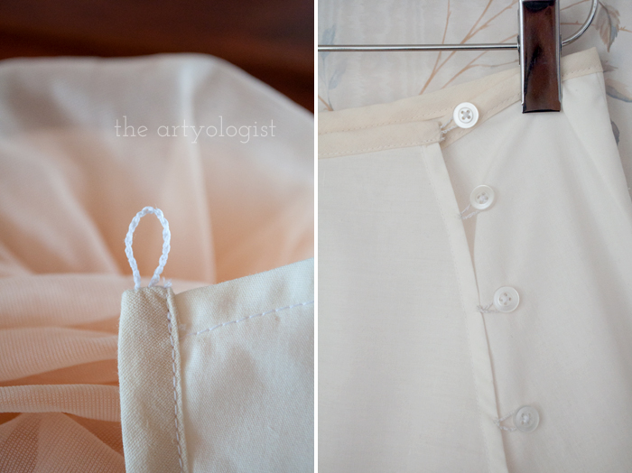 Simple Petticoat Alteration, the artyologist, button-details