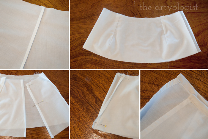 Simple Petticoat Alteration, the artyologist, how to yoke
