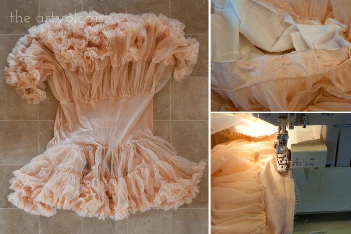 Simple Petticoat Alteration, the artyologist, petticoat ruffles