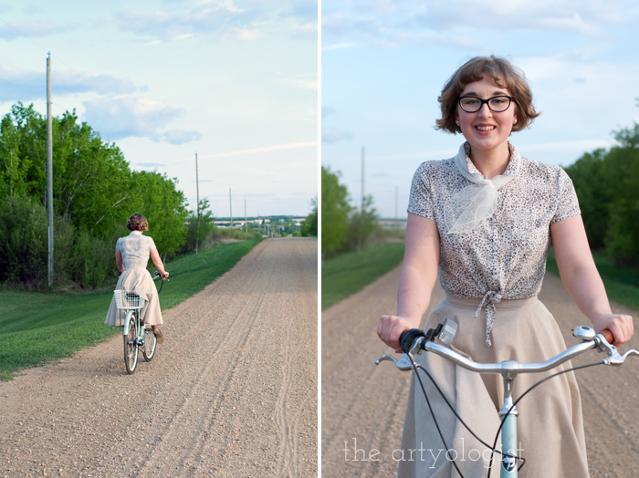 Rural Holiday, the artyologist, a roman holiday outfit, riding bicycle 2