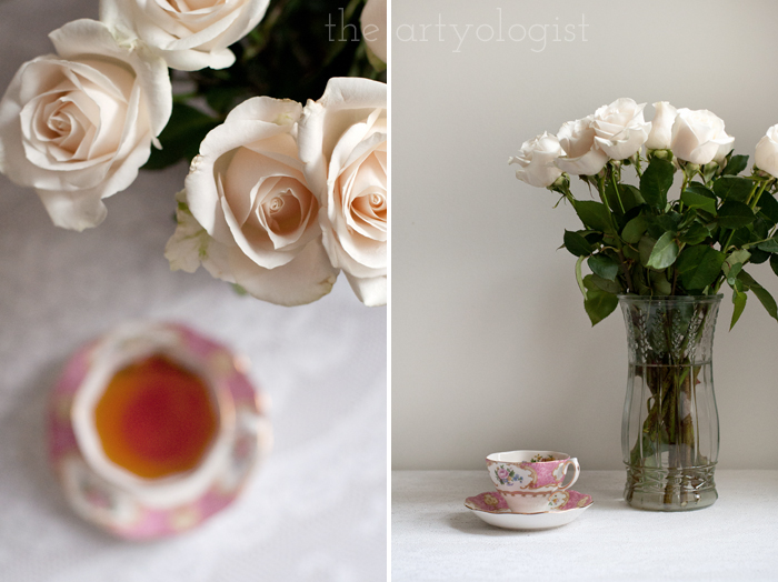 Tea and Cream Coloured Roses, detail, the artyologist