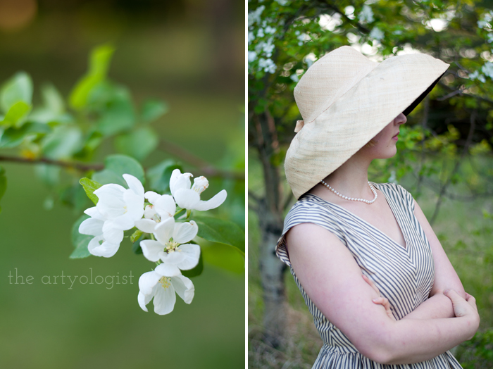 Salvaging a Sewing Project with Vogue 8789, the artyologist, hat-and-blossoms