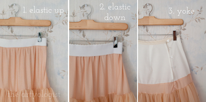 Simple Petticoat Alteration, the artyologist, altered tops
