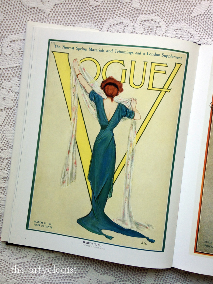 Vintage Vogue Covers: Vogue March 15, 1911, Elegant Spring Attire, the artyologist vogue-cover-original