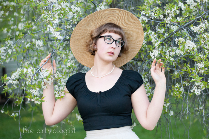 The Circle Skirt Strikes Again (With the Hell Bunny Melissa Top), in the flowers, the artyologist