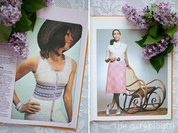 A Fashion Moment with Creative Hands: Lilac, knitwear and skirt