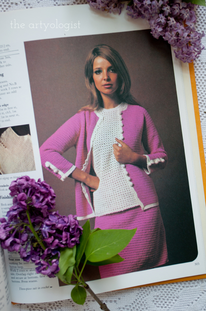 A Fashion Moment with Creative Hands: Lilac, pink sweater set