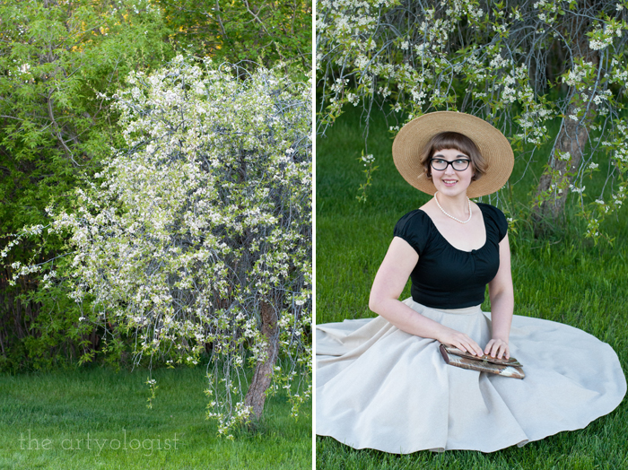The Circle Skirt Strikes Again (With the Hell Bunny Melissa Top), the artyologist, sitting-and-tree
