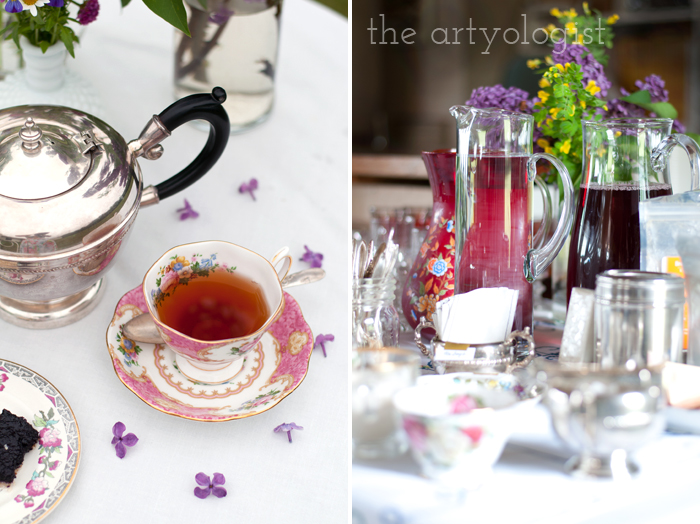 The Ladies Garden Tea (Which is not in a Garden): The Decor, teacup and table