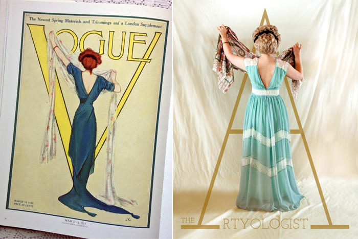 1910's vogue cover recreation, the artyologist, my vintage cover challenge