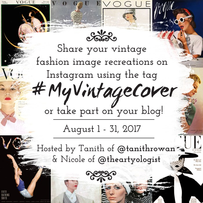 My Vintage Cover Challenge