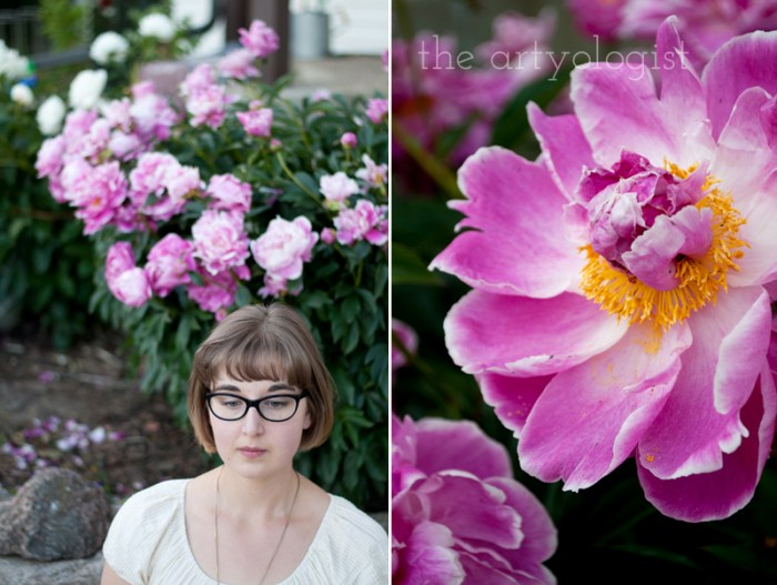portrait and peony, the artyologist
