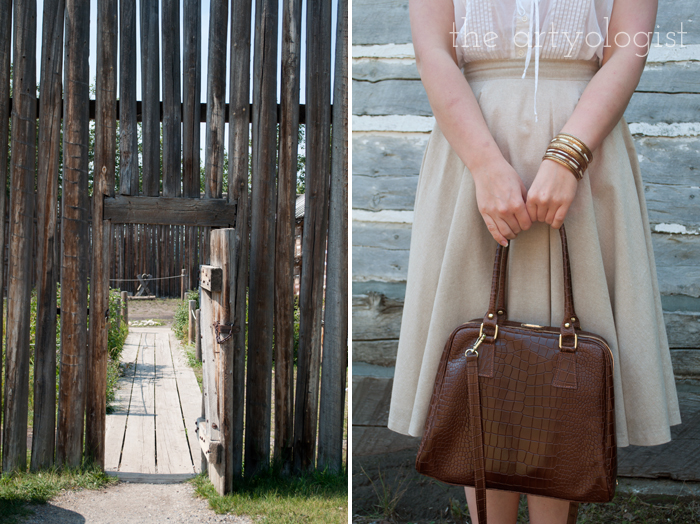 A Period Incorrect Outfit at Heritage Park , the artyologist, gate-and-purse-bracelet-detail