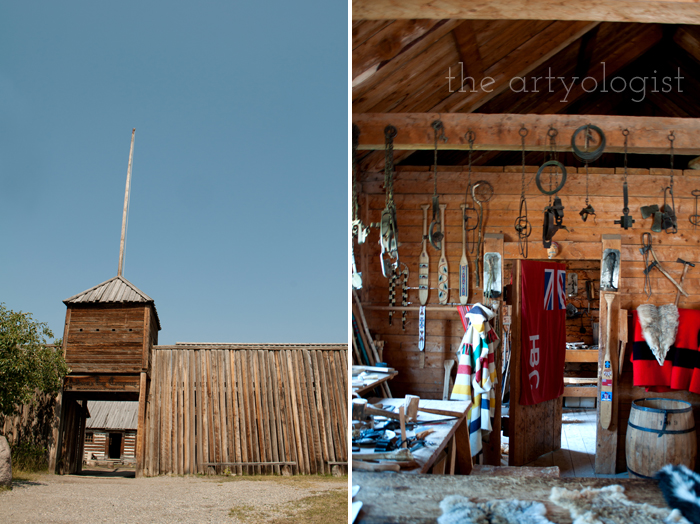 A Period Incorrect Outfit at Heritage Park , the artyologist, trading-post-gate-and-inside