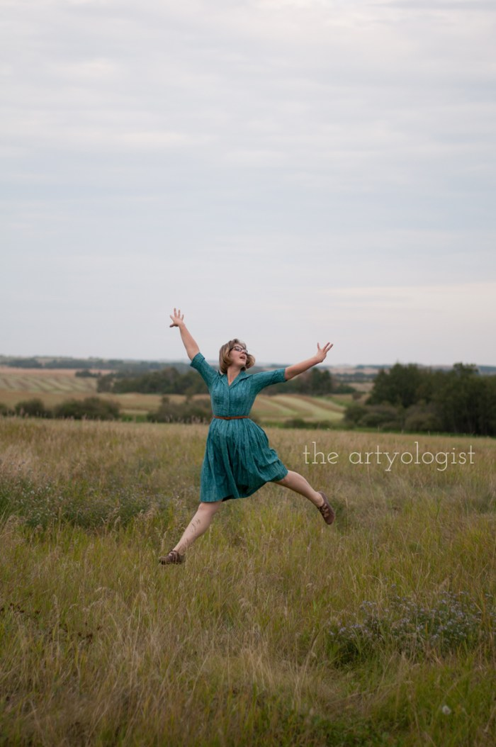 "How to Wear Those ""Problem Garments"", the artyologist, jumping for joy"