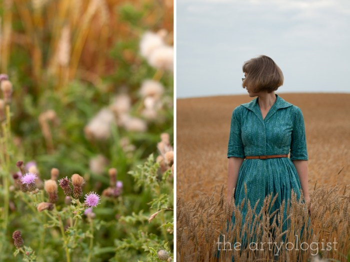 "How to Wear Those ""Problem Garments"", the artyologist, wheat field and thistles"
