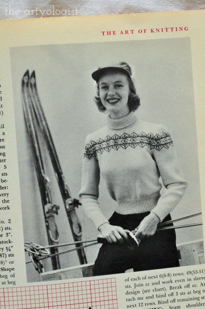 ski-sweater mccalls treasury of needlecraft