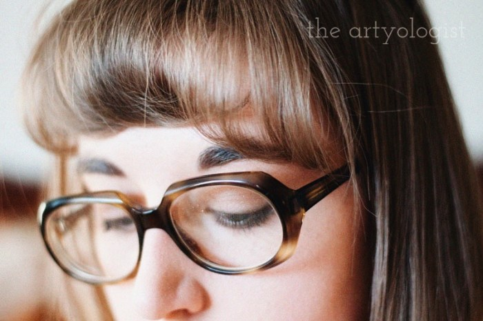 Time Travels (And a Very 1970's Sofa) the artyologist, vintage 70's glasses