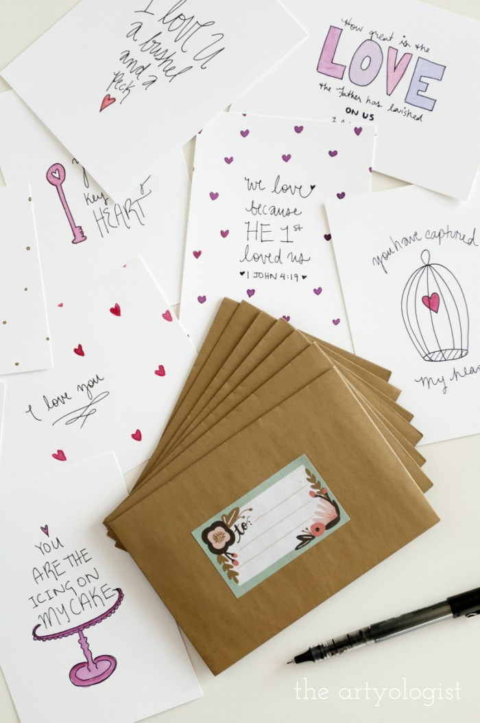 Valentine's Day Cards and Cake, the artyologist