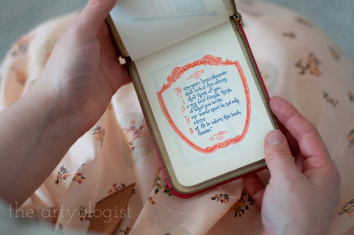 A Peachy Keen Valentine's vintage autograph book, the artyologist