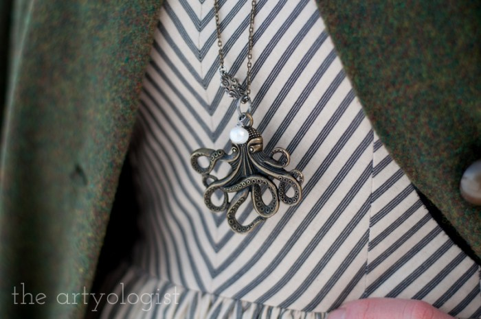 kraken necklace, the artyologist