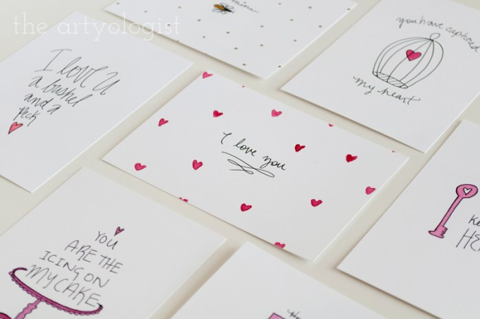 valentine's day cards, the artyologist
